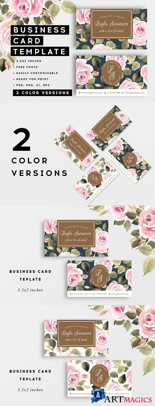 Roses – business card - 2758254