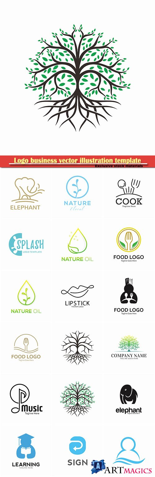 Logo business vector illustration template # 108