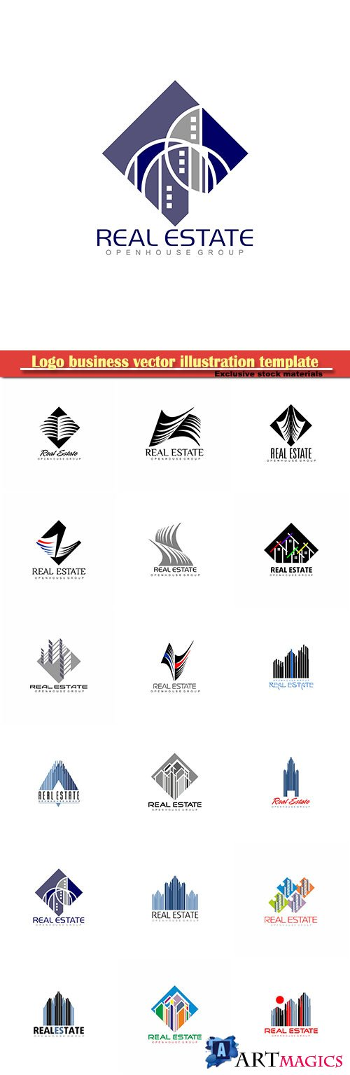 Logo business vector illustration template № 103