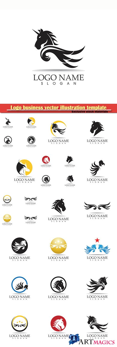 Logo business vector illustration template № 104