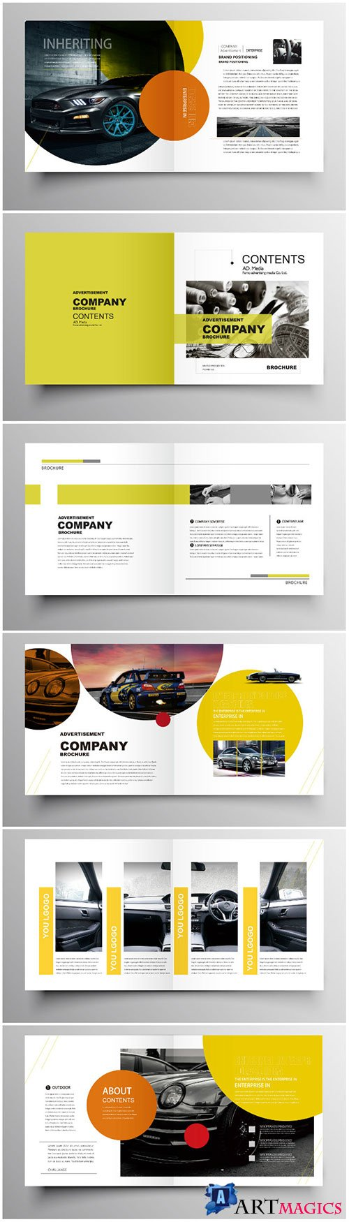 Brochure template vector layout design, corporate business annual report, magazine, flyer mockup # 193