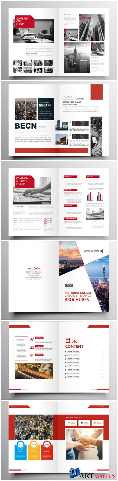 Brochure template vector layout design, corporate business annual report, magazine, flyer mockup # 194