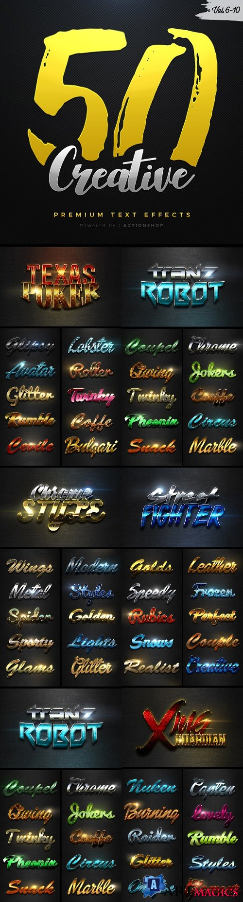 50 Creative Text Effects Bundle Two - 21206282