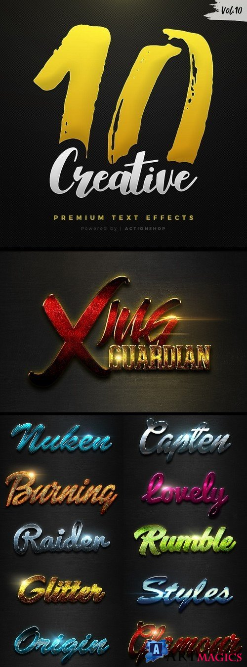 10 Creative Text Effects Vol.10 - 21118588