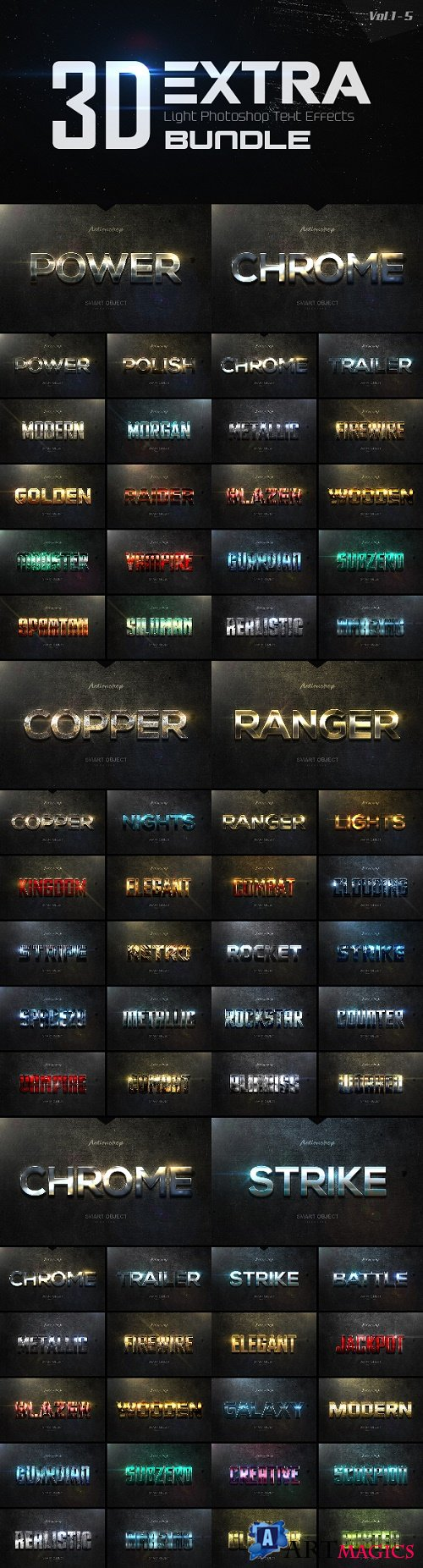New 3d Extra Light Text Effects Bundle - 20392022