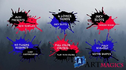 Inky Blots Lower Thirds 101511 - After Effects Templates
