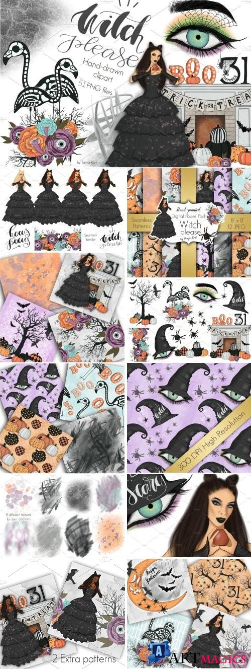 Witch Please Halloween Design Kit - 2741107