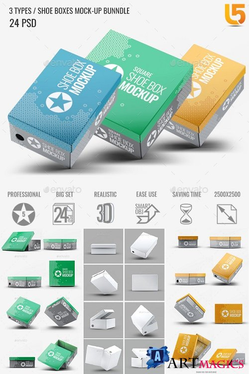 Shoe Boxes Mock-Up Bundle - 22532227