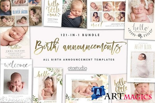 BUNDLE 121-in-1 Birth Announcements 2885171
