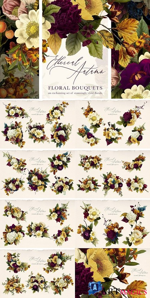 Ethereal Autumn Floral Bouquets 2888795