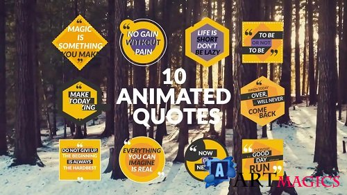 10 Animated Quotes - After Effects Templates