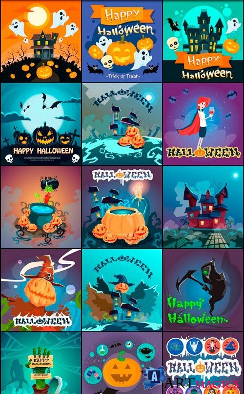 Halloween collection 57 - 45 EPS