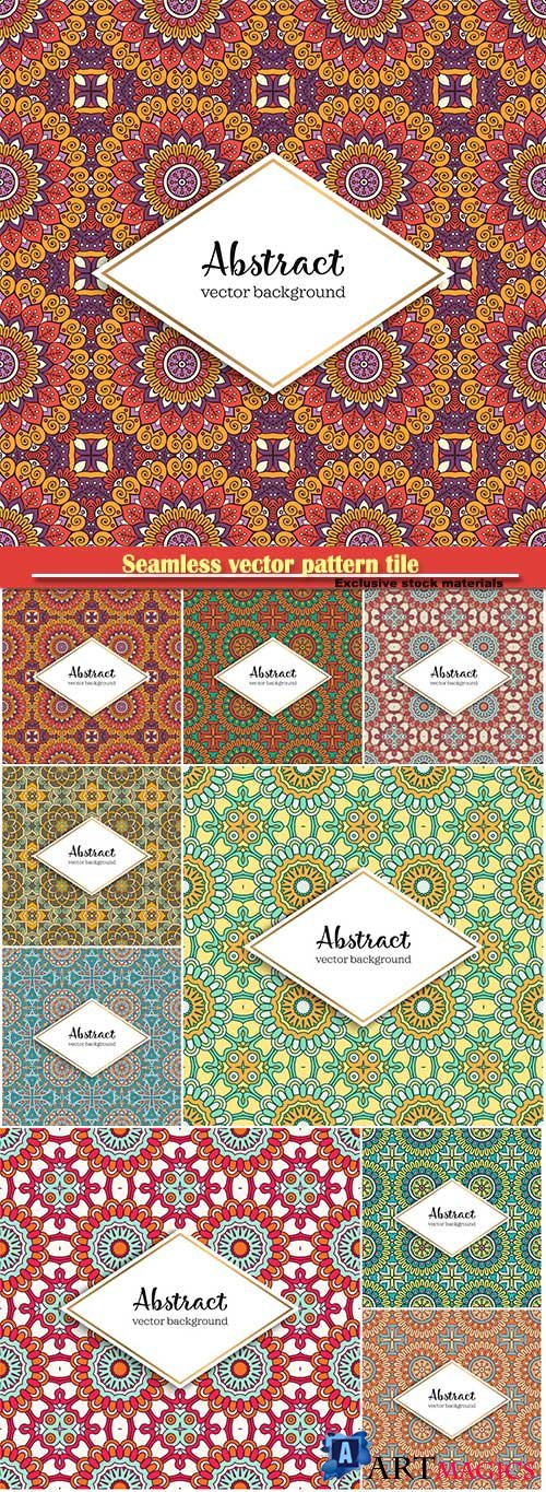 Seamless vector pattern tile, vintage decorative elements