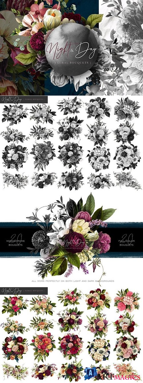 Night and Day Floral Bouquets - 2837012
