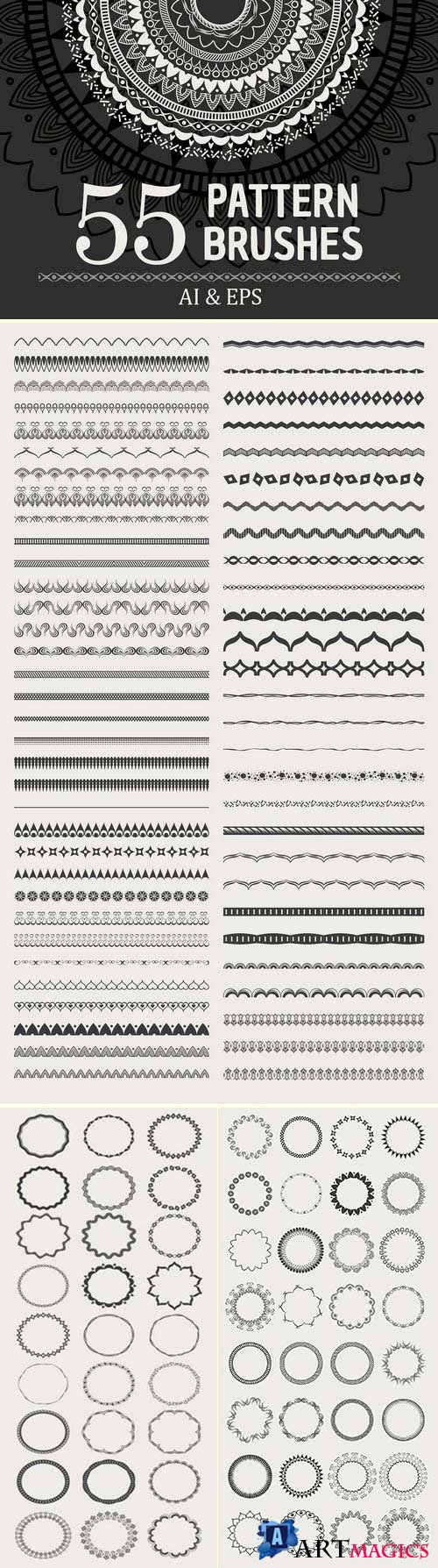 CM - 55 Vector Patterns Brushes 2915269