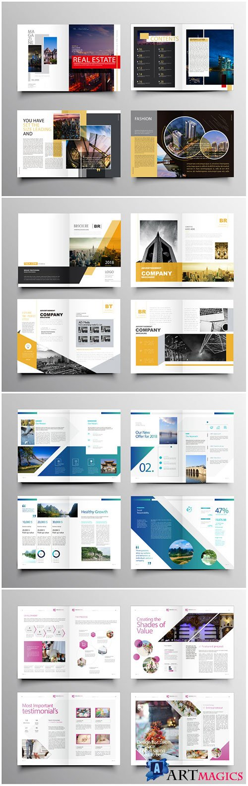 Brochure template vector layout design, corporate business annual report, magazine, flyer mockup # 229