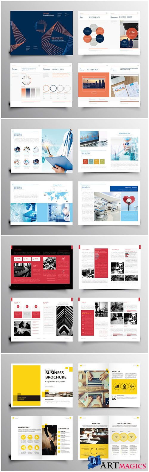 Brochure template vector layout design, corporate business annual report, magazine, flyer mockup # 233