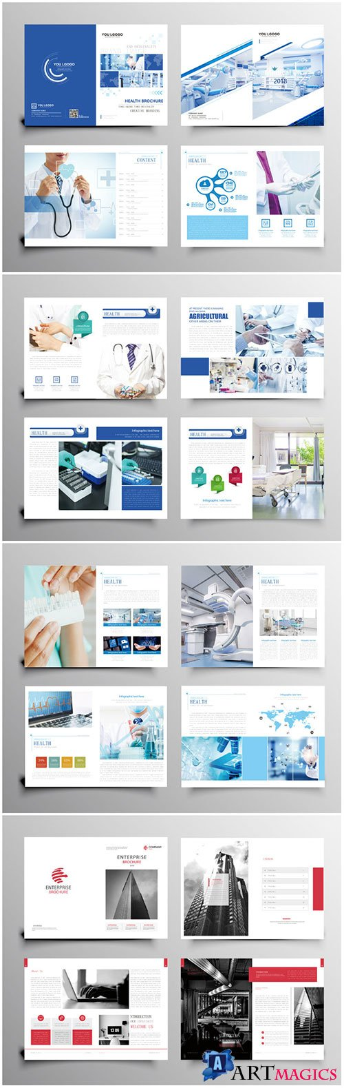 Brochure template vector layout design, corporate business annual report, magazine, flyer mockup # 232