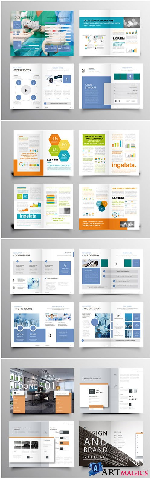 Brochure template vector layout design, corporate business annual report, magazine, flyer mockup # 234