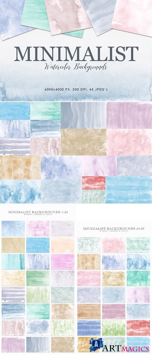 Minimalist Watercolor Backgrounds - 2928714