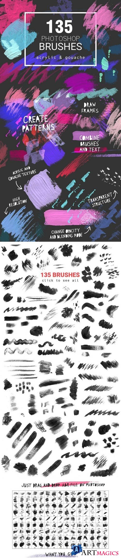 Acrylic&Gouache - 135 PS brushes - 2152887 (Updated)