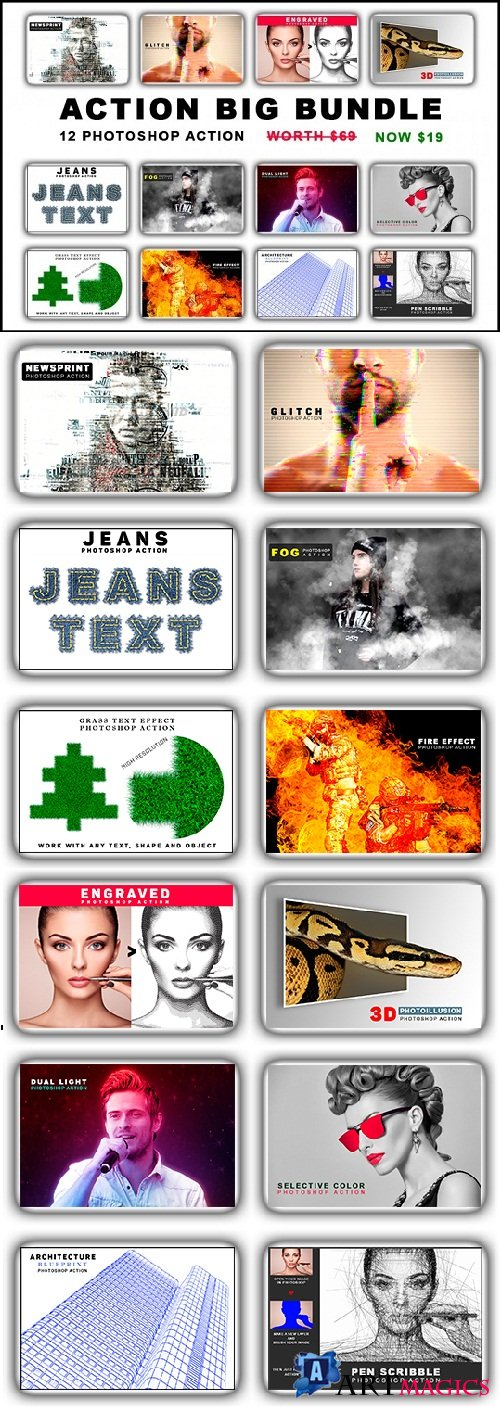 Photoshop Action Mega Bundle 3511249