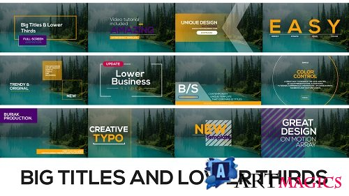 Big Titles and Lower Thirds 133245 - After Effects Templates