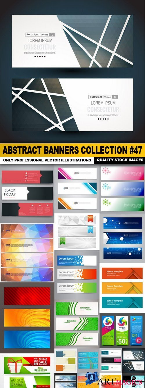Abstract Banners Collection #47 - 20 Vectors