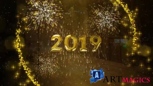 New Year Countdown 2019 - Project ProShow Producer
