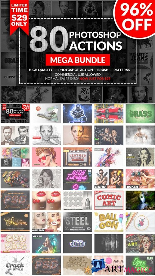 Photoshop Action Mega Bundle - 3516953