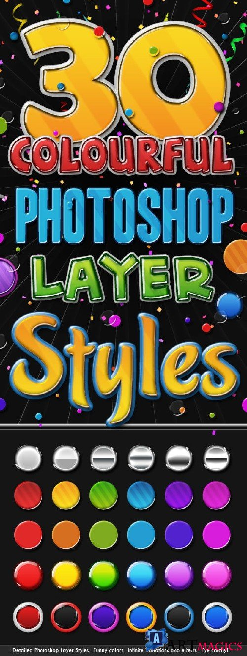 Big Pack of Colourful 3D Layer Styles 108779