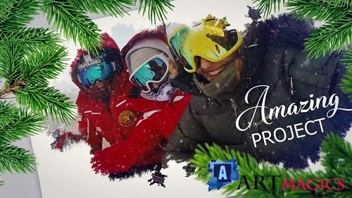 Happy Holiday Ink Slideshow 154605 - After Effects Templates