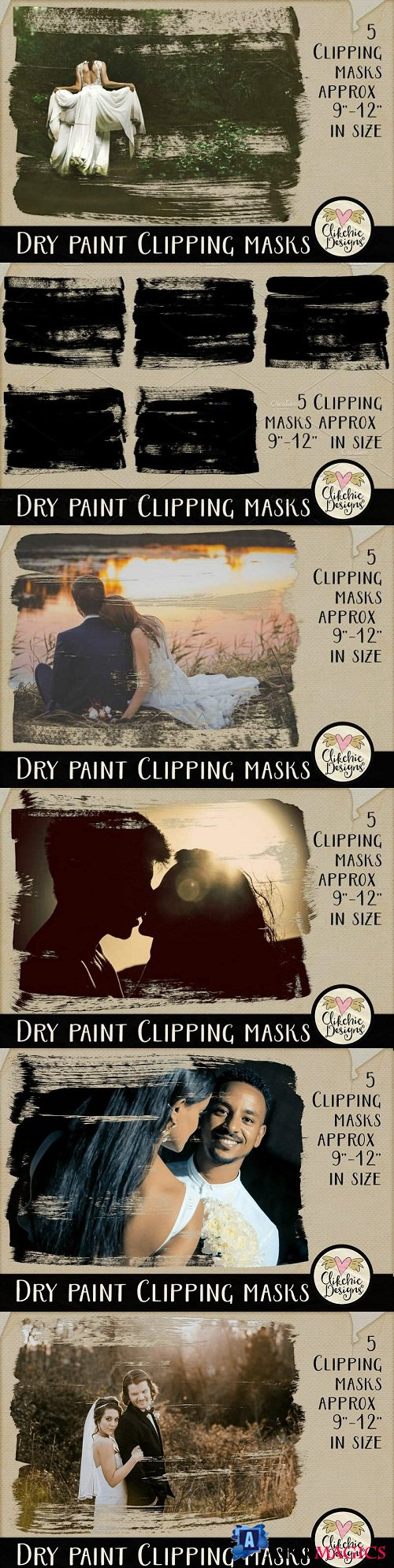 Dry Paint Photoshop Clipping Masks 2347811