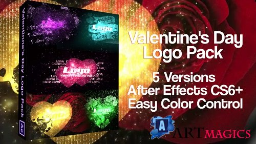 Valentine's Day Logo Pack 163459 - After Effects Templates