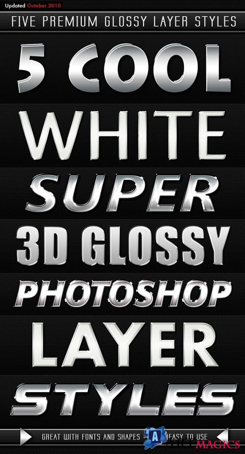 White Modern 3D Glossy Layer Styles - 106761