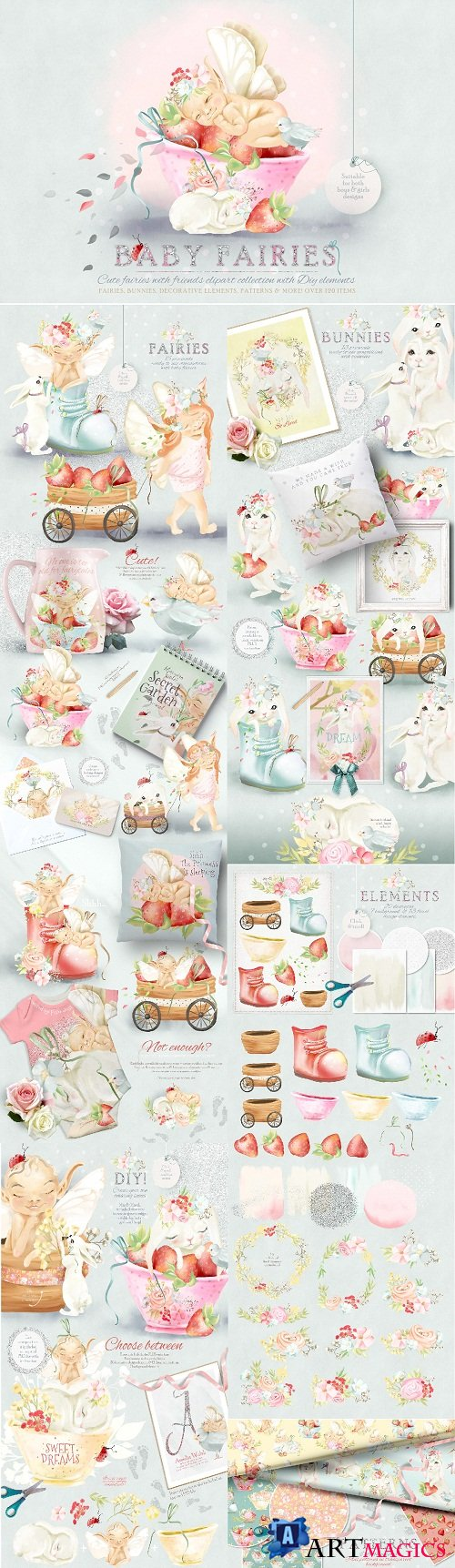 Baby Fairies Clipart Collection 2770171