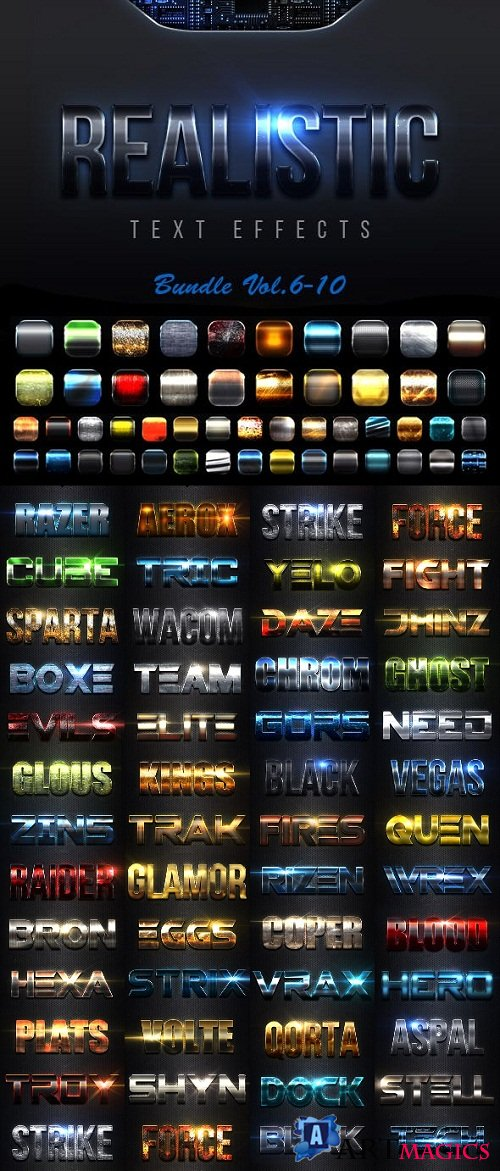 Realistic Text Effects Bundle II 23151194