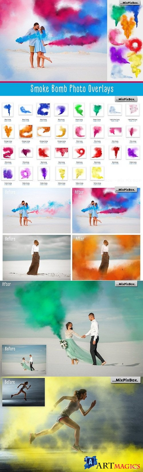 Smoke Bomb Photo Overlays 3290991