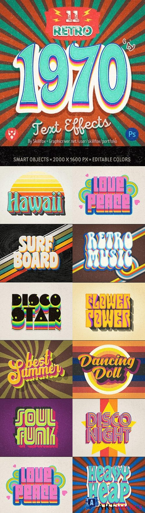 11 70's Retro Text Effects - 23203116