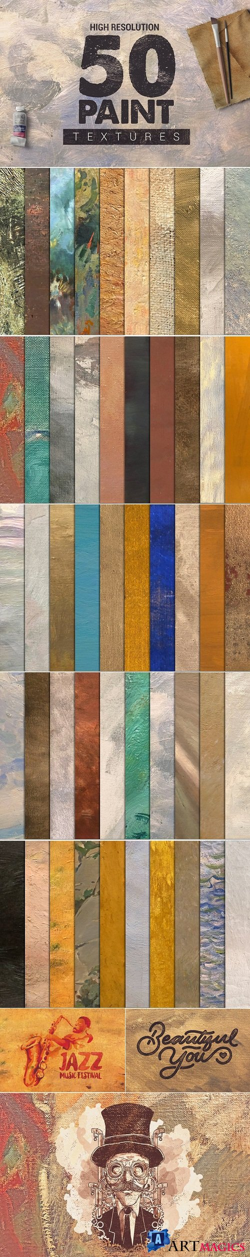 Bundle Paint Textures x50 - 2786041