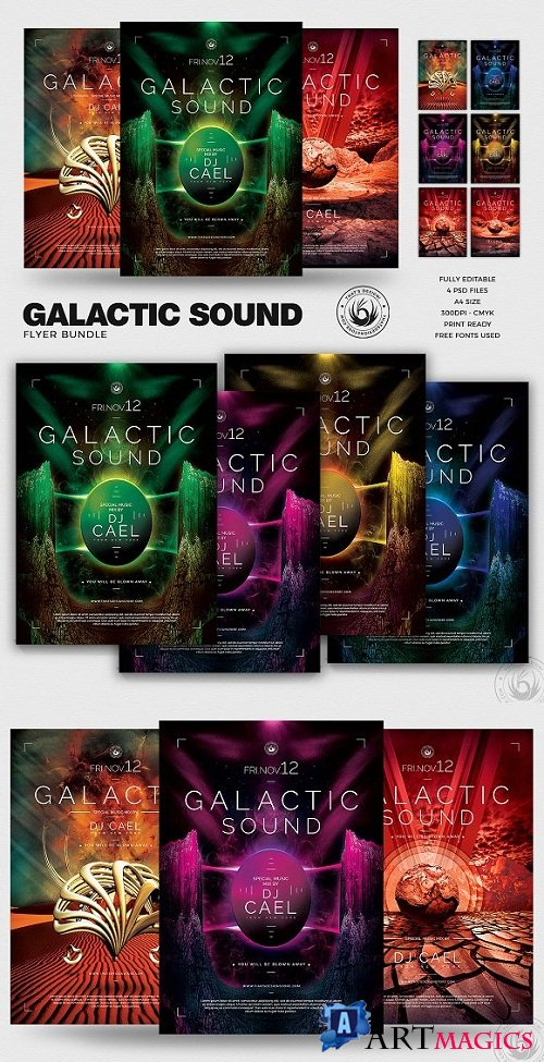 Galactic Sound Flyer Bundle 250833