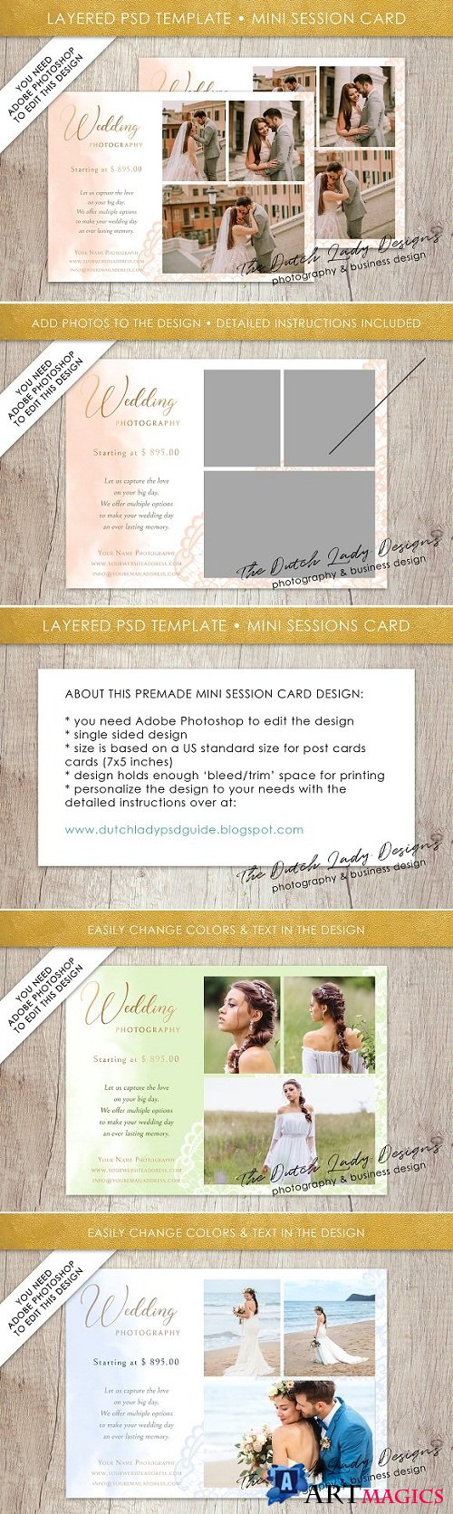 PSD Photo Session Card Template #33 - 3528285