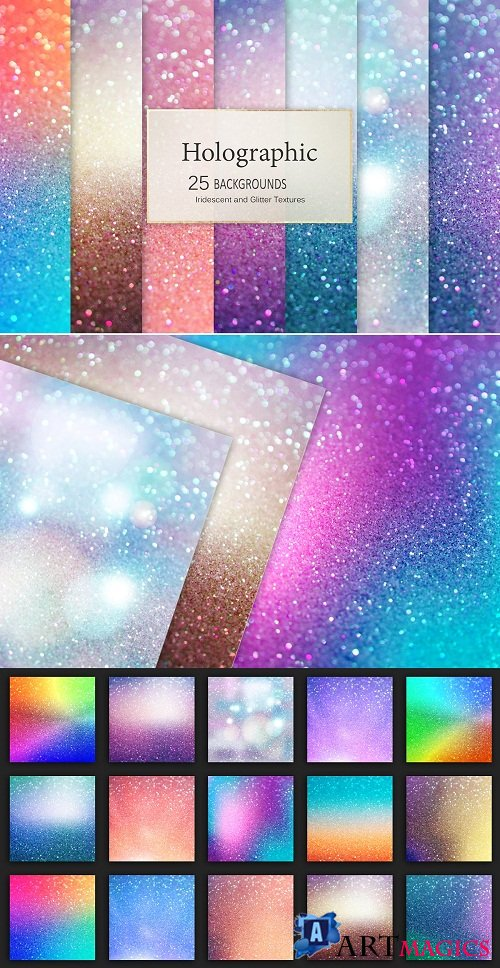 Holographic and Glitter Backgrounds - 3085671