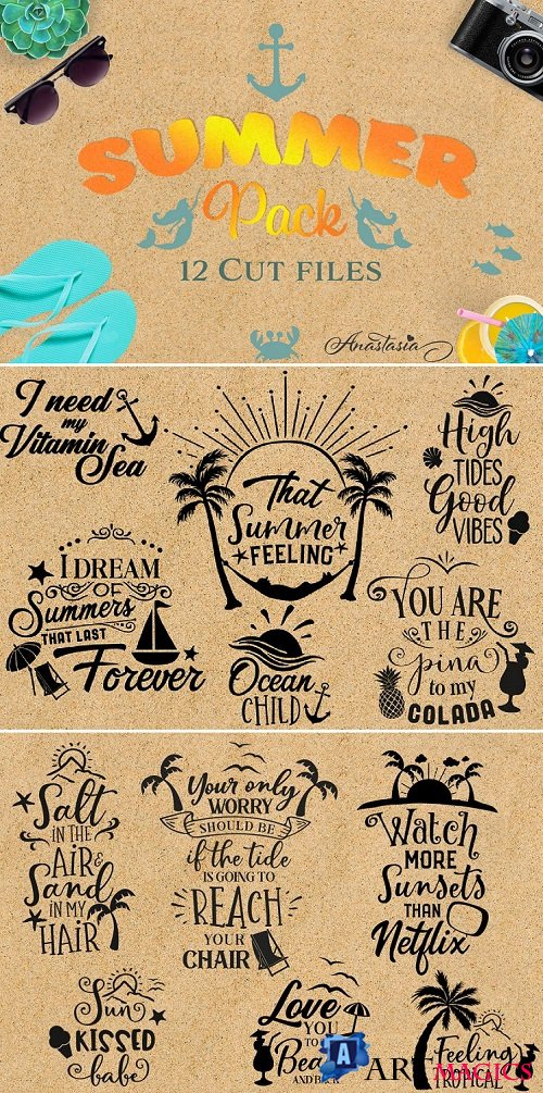 The Summer Bundle SVG Cut Files Pack - 91469