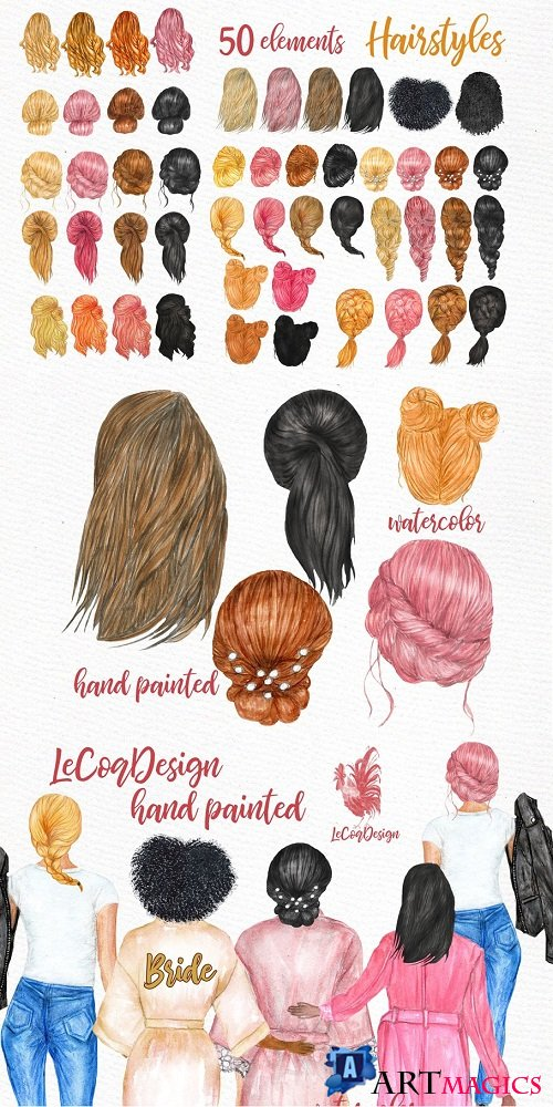 Hairstyles clipart Custom hairstyles - 3582703