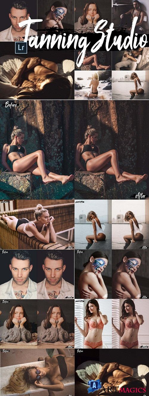 Neo Tanning Studio Theme Desktop Lightroom Presets - 230777