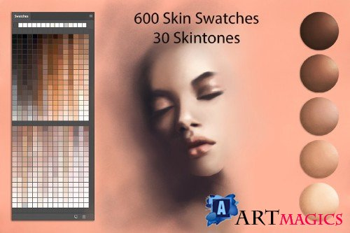 Skin Ps and AI Swatches for DigitalPainting - 1507575 - 2909396