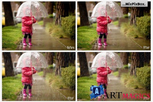 Realistic Rain Photo Overlays 3586814