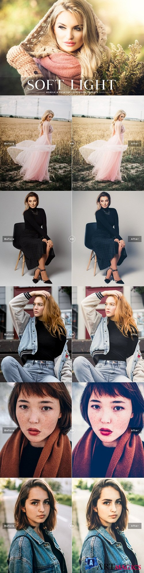 Soft Light Lightroom Presets Pack - 3659432