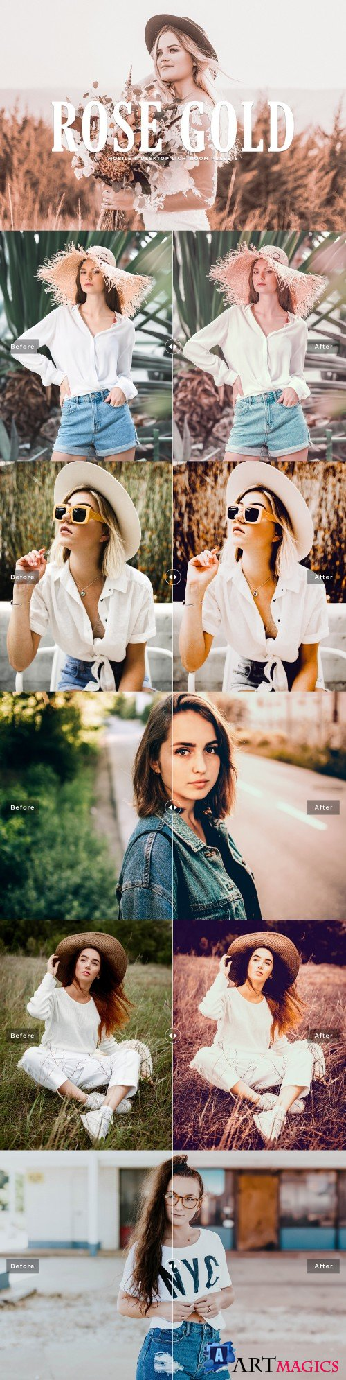 Rose Gold Lightroom Presets - 3637772